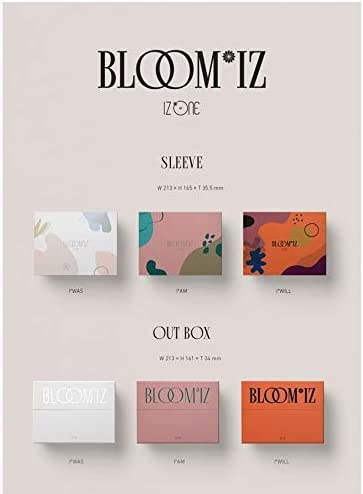 BLOOMIZ IZONE 1st Album Incl. Pre-Order Benefits , One Random IZONE Acrylic Photocard QR Card, Postcard, Mini Photocard, Folded Poster ver.2
