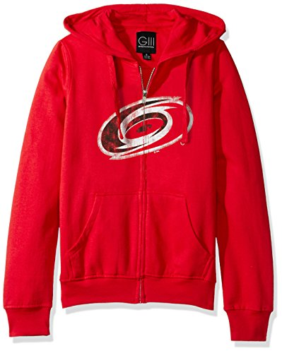 NHL Carolina Hurricanes Women's Wildcat Full Zip Hoodie, Medium, Red