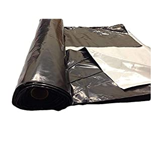 Light deprevation greenhouse cover 100% blackout film 24' x 100' 8 mil