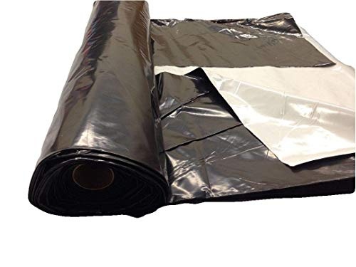 Light deprevation greenhouse cover 100% blackout film 40' x 20' 6 mil by Farm Plastic Supply