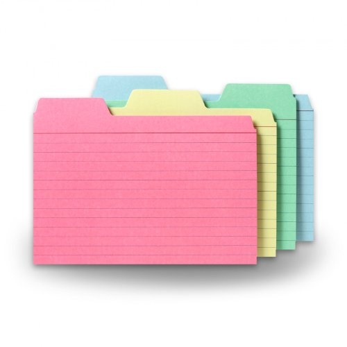 - Find-It Tabbed Index Cards, 4 x 6 Inches, Assorted Colors, 48-Pack (FT07218)