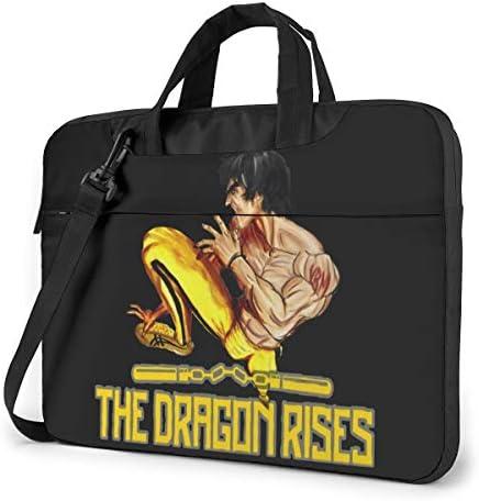 ブルース・リー Bruce Lee ビジネスバッグ メンズ パソコンバッグ ラップトップバッグ ノートパソコンケース 手提げ 360°保護ケース 多機能 大容量 ファッション 軽量 便利 耐久 衝撃 男女兼用
