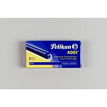 Pelikan Großraum Tintenpatrone 4001 Königsblau 5 Packungen a 5 Patronen