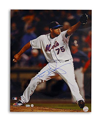(Francisco Rodriguez Autographed New York Mets 16x20 Photo Pitching - Signed MLB Photos )