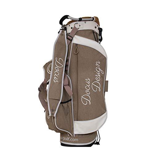 ドゥーカス DOCUS メンズ ゴルフ スタンドバック キャディバッグ 8.5インチ DCC736 LightBrown-White 選択 B07JHW1CFG