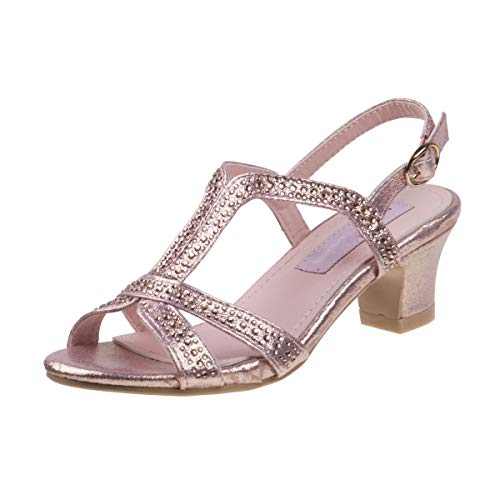 Nanette Lepore Girls Rhinestone Glitter Dress Sandals (Little Kid, Big Kid) (12 M US Little Kid, Pink)']()