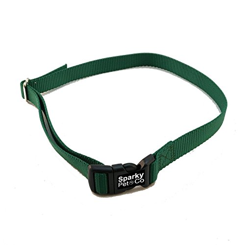"Sparky PetCo Compatible 3/4"" Nylon Solid Dog Fence Receiver Replacement Strap for PetSafe Wireless and in Ground Systems,Green For Sale"
