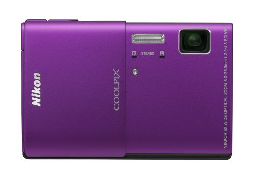 Screen Touch Oled 3.5 - Nikon COOLPIX S100 16 MP CMOS Digital Camera with 5x Optical Zoom NIKKOR ED Glass Lens and 3.5-Inch OLED Touchscreen (Purple)