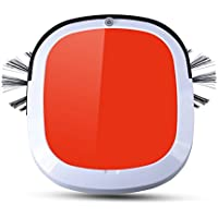 WOHOME Automatic Robot Vacuum Cleaner - Robotic Auto Home Cleaning for Clean Hard Floor, HEPA Filter Pet Hair Allergies Friendly, Orange