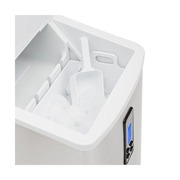 Klarstein Mr. Silver-Frost - Macchina per Cubetti di Ghiaccio, 15 kg/24 h, 150 Watt, 3 Dimensioni Cubetti, Preparazione… 4 spesavip