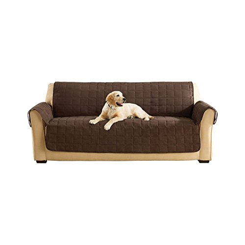 Sure Fit Ultimate Waterproof Quilted Throw - Sofa Slipcover  - Chocolate (SF45305) (Sectional Surefit)