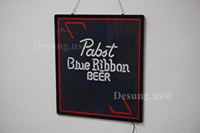 Desung.us® Revolutionary Pabst Blue Ribbon PBR Beer LED Neon Light Sign High Quality Design Decorate 3rd Generation Sign