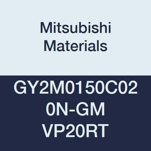 C Seat 0.008 Corner Radius Mitsubishi Materials GY2M0150C020N-GM VP20RT Series GY Carbide Grooving Insert for Grooving//Cutting Off and Medium Feeds 2 Teeth Pack of 10 0.059 Grooving Width