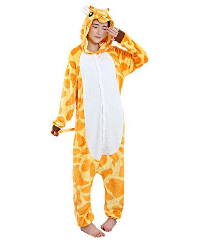 BIFINI Halloween Giraffe Pajamas Homewear Animal Fancy Dress Costume -