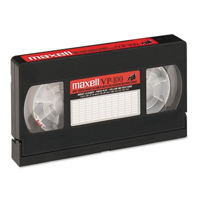 Cleaning VHS Tape Cartridge from MAXELL CORP. OF AMERICA
