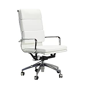 Design Tree Home Eames Style Soft Pad Executive Office Chair Adj