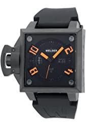 Welder Men's K25-4102 K25 Analog Black Ion-Plated Stainless Steel Square Watch