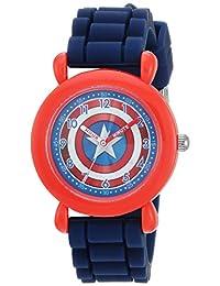 Marvel Boy's 'Avenger' Quartz Plastic and Nylon Casual Watch, Color:Blue (Model: WMA000234)