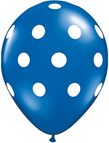 Pioneer Balloon Company 50 Count Big Polka Dots Latex Balloon, 11