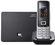Gigaset S850A GO - Teléfono (Teléfono DECT, 500 entradas, Identificador de Llamadas, Servicios de Mensajes Cortos (SMS), Negro, Platino)