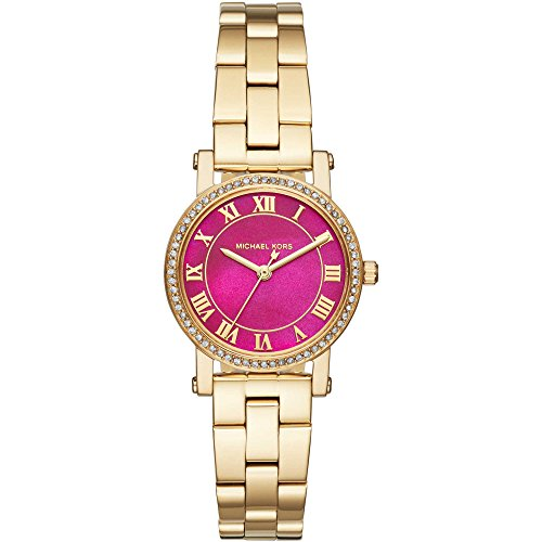 Price comparison product image Michael Kors Women's Petite Norie Gold-Tone Stainless Steel Bracelet Watch 28mm MK3708