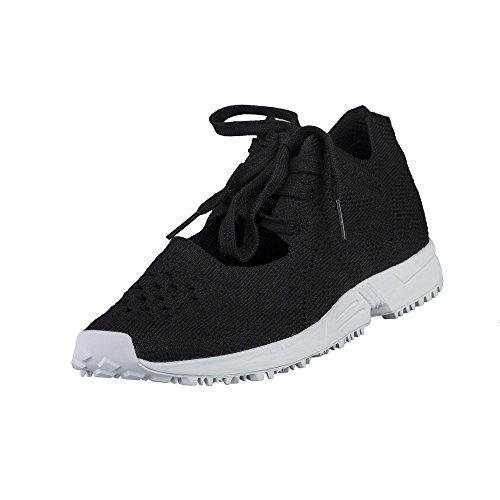 Sintético Mujer Para Material Adidas De Negro Zapatillas wn7qT8ZPtx