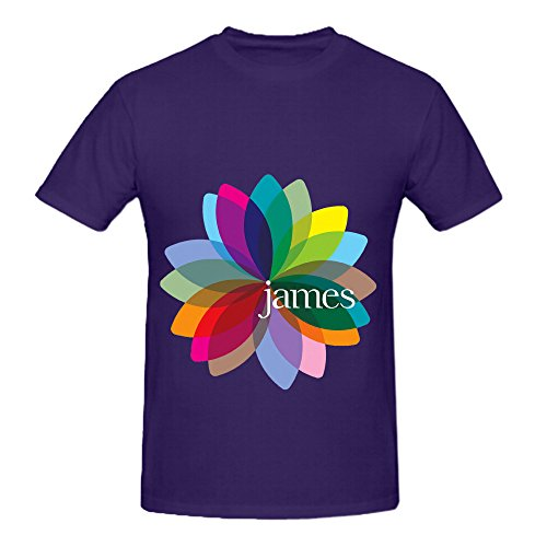 80s Workout Gear (James Fresh As A Daisy The Singles 80s Mens Crew Neck Art T Shirts Purple)