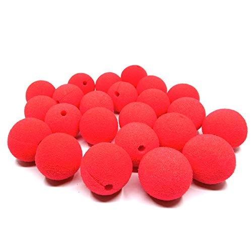 Clown nose,Dancepanda 25 Pcs Red Foam Nose for Party Halloween Costume Supplies Red Nose Day Party for $<!--$8.80-->