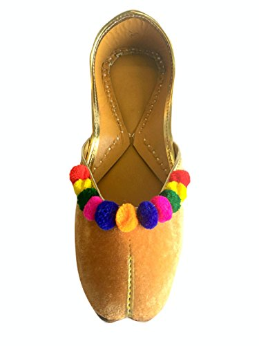 Schritt N Style Frauen Flach Samt Multiflower Khussa Schuhe Panjabi jutti Rajasthani mojari Pumpen