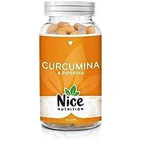 Curcuma curcumina e piperina alto dosaggio - Perdita di peso - Integratore Nice Nutrition - Antinfiammatorio - Antidolorifico - Antiossidante - Digestivo - Bruciagrassi   Prodotto in Italia