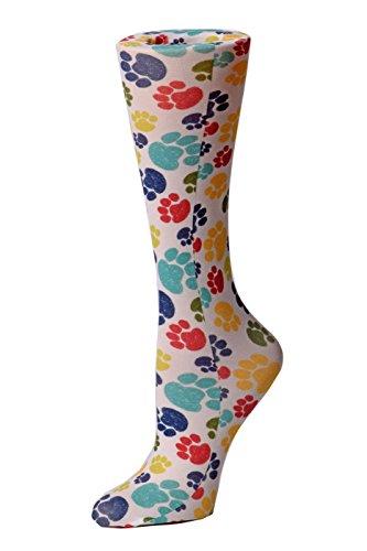Cutieful Women's Nylon 8-15 Mmhg Compression Sock Paw -