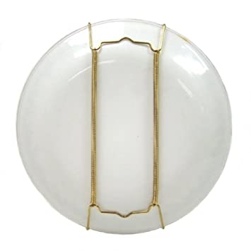 Brass Display Wall Hanging Plate Holder - Holds Plates Between 9\  and 16\  Diameter Amazon.co.uk Kitchen \u0026 Home  sc 1 st  Amazon UK & Brass Display Wall Hanging Plate Holder - Holds Plates Between 9 ...