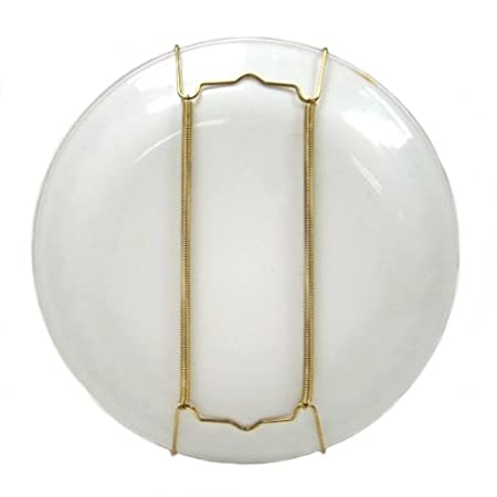 Brass Display Wall Hanging Plate Holder - Holds Plates Between 9u0026quot; and 16u0026quot; Diameter  sc 1 st  Amazon UK & Brass Display Wall Hanging Plate Holder - Holds Plates Between 9 ...