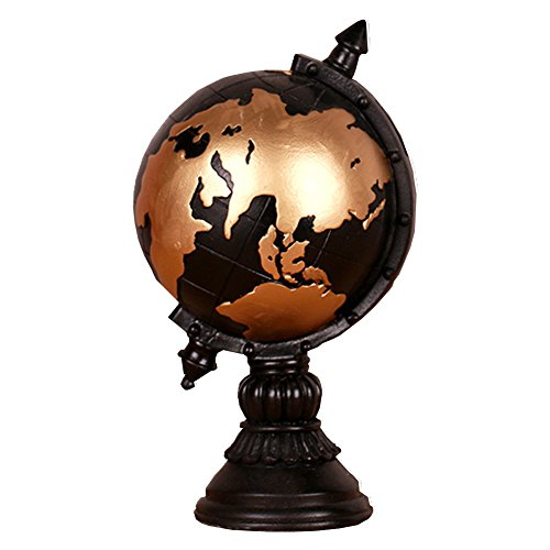 YOURNELO Creative Home Room Decoration Retro Resin Globe Money Box Tellurion Coin Piggy Bank Saving Box Toy Birthday Gift Saving Pot for Adult Gift -