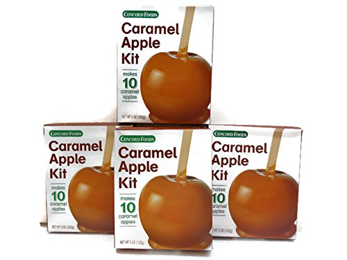 CONCORD CARAMEL APPLE KITS (4 Boxes of -