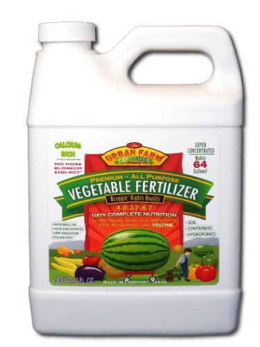 Urban Farm Fertilizers All-Purpose Vegetable Fertilizer, 1 Quart