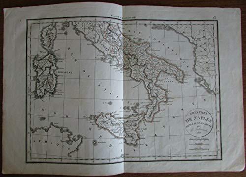 - Kingdom of Naples Sicily Sardinia Italy Italia Sardegna 1825 Delamarche map
