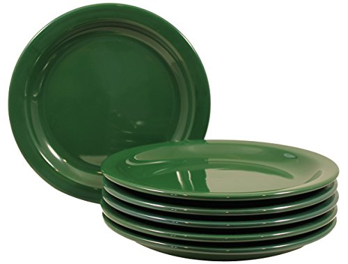 ITI Brighton Ceramic Dinner Plates with Pan Scraper, 6-Pack