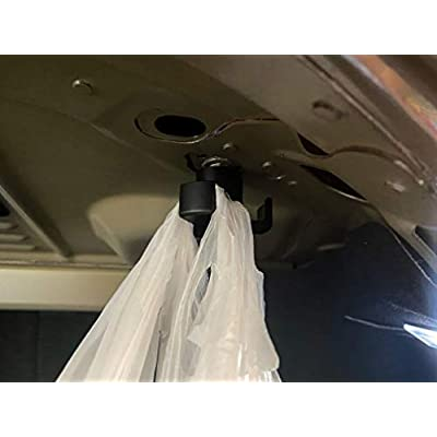 OzniumX Aluminum Trunk Grocery Bag Hook for Tesla Model 3, Black, Anodized Aluminum, Interior Accessories: Automotive