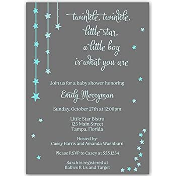 Amazon baby shower invitations little man bowtie boy argyle twinkle little star baby shower invitations boys blue over the moon filmwisefo
