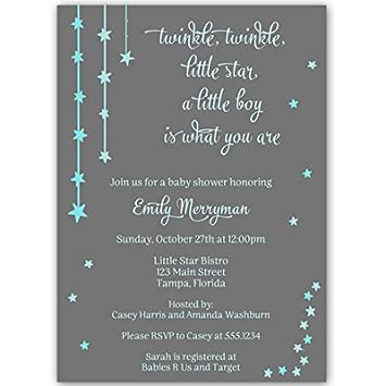 Amazon twinkle little star baby shower invitations boys twinkle little star baby shower invitations boys blue over the moon filmwisefo