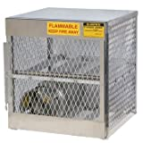 Justrite 30'' X 33 1/2'' X 32'' Aluminum Horizontal 4 Cylinder Storage Locker With (1) Manual Close Door And (1) Shelf (For Flammables)