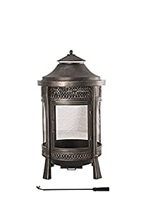 Sunjoy 110504002 Large Cast Steel Outdoor Fireplace 62 Brown