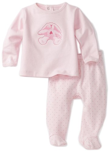 ABSORBA Baby-Girls Newborn Bear Friends Two Piece Footed Pant Set