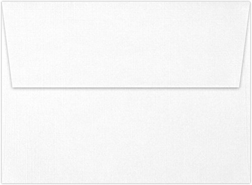 A7 Invitation Envelopes (5 1/4 x 7 1/4) - White Linen (50 Qty) | Perfect for Invitations, Announcements, Sending Cards, 5x7 Photos | 4880-WLI-50