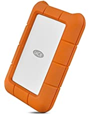 LaCie Rugged Thunderbolt USB-C 5TB External Hard Drive Portable HDD – USB 3.0 Compatible, Drop Shock Dust Water Resistant, Mac and PC Computer Desktop Workstation Laptop, 1 Mo Adobe CC (STFS5000800)