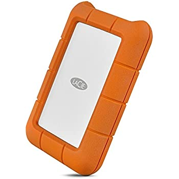 LaCie Rugged 4TB USB-C and USB 3.0 Portable Hard Drive (STFR4000800)