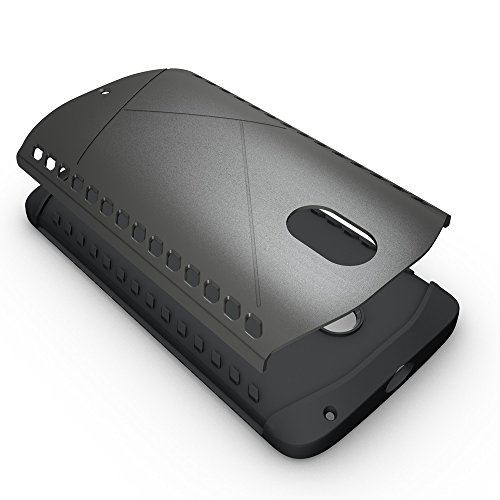 Moto X Play Case, 2 In 1 Neue Rüstung Tough Style Hybrid Dual Layer Rüstung Defender PC Hard Cases Stoßfestes Gehäuse Für Moto X Play ( Color : Gray , Size : Moto X Play )