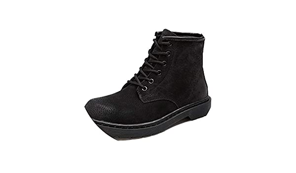 Amazon.com | Mens Autumn/Winter Martin Boots Genuine Cow Leather High Top Ankle Boots Cotton-Padded Leather, Black1, 4.5 | Boots