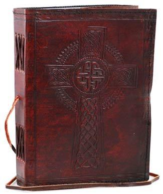 Celtic Cross Leather Blank Book Celtic Design Pen